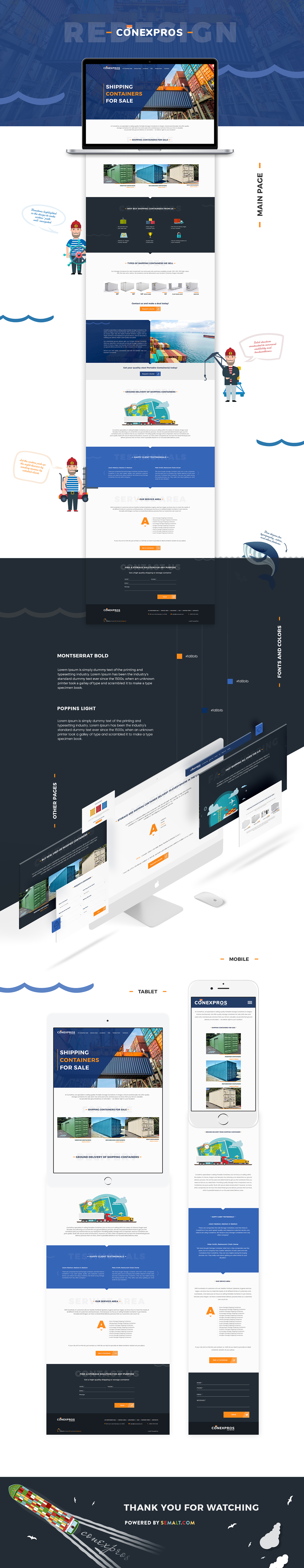 Webdesign SEO Website typography   landing development photoshop shipping industry portfolio