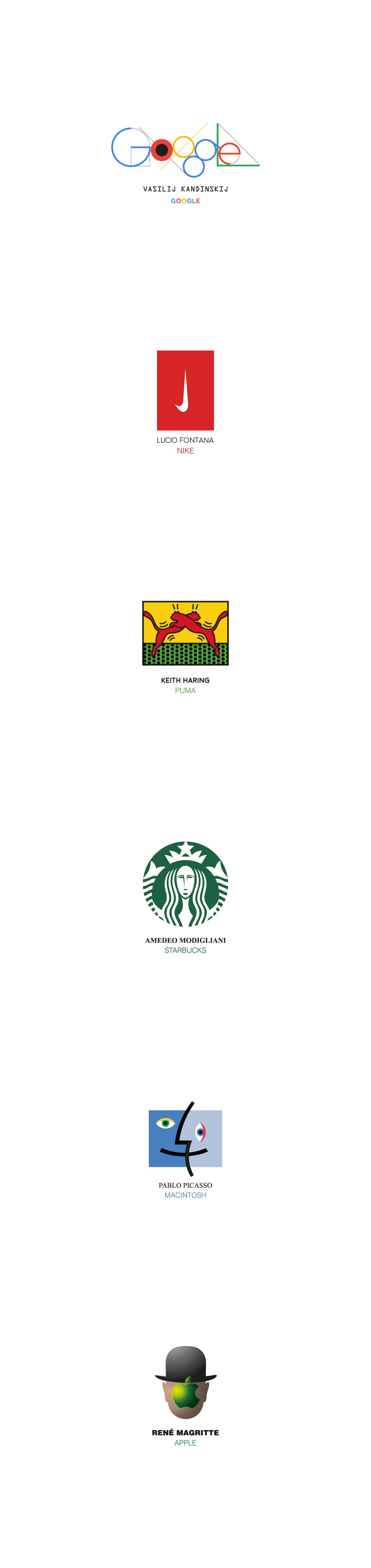 logo brand google Nike puma mac Macintosh pepsi sturbucks apple minimal painters artist famous inspiration