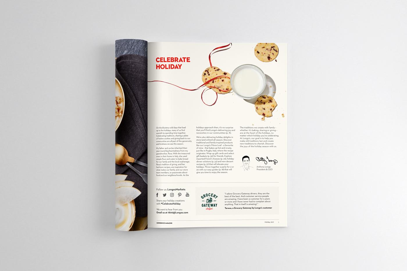 Longo\'s Experience Magazine Rebrand on Behance