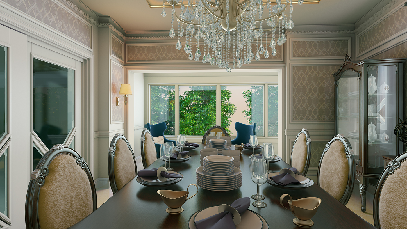Dining Room Kitchen Design Apartment In Cairo On Behance
