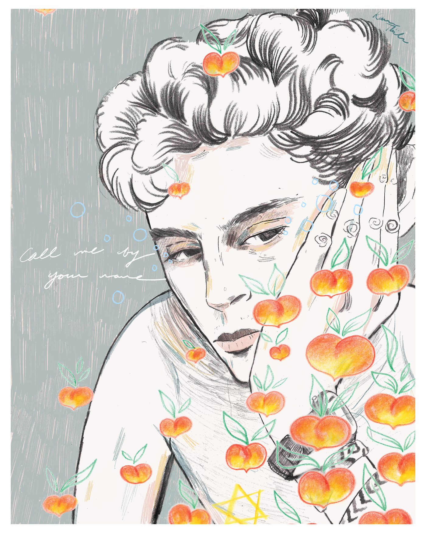call me by your name cmbyn timothee chalamet peaches poster
