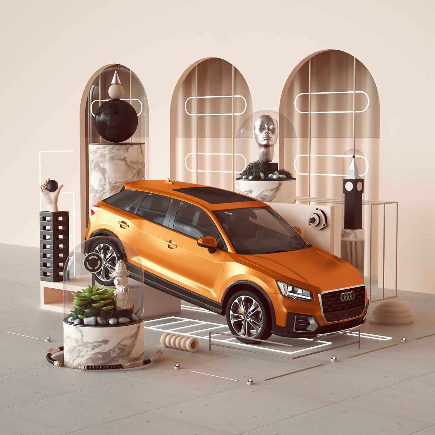 AUDI Qriosity On Behance - Audi q 745 car