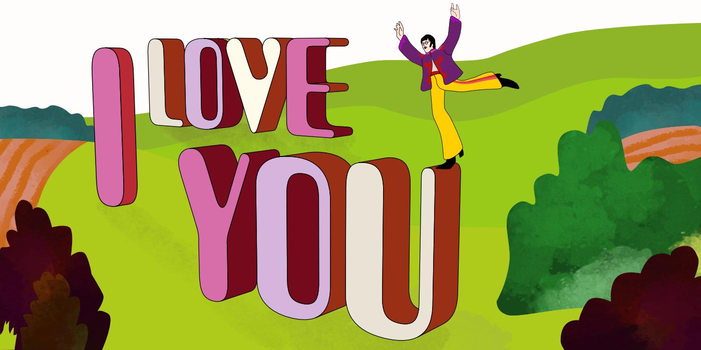 36daysoftype alphabet animation  Beatles gif ILLUSTRATION  letter type typography   Yellow Submarine