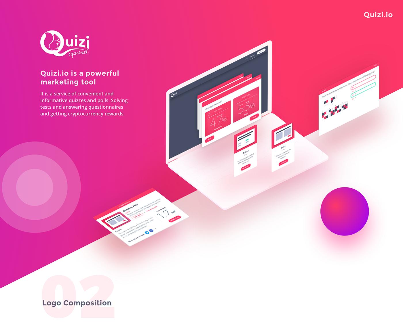 Quiz poll test webservice uiux blockchain impleum design development cryptocurrency