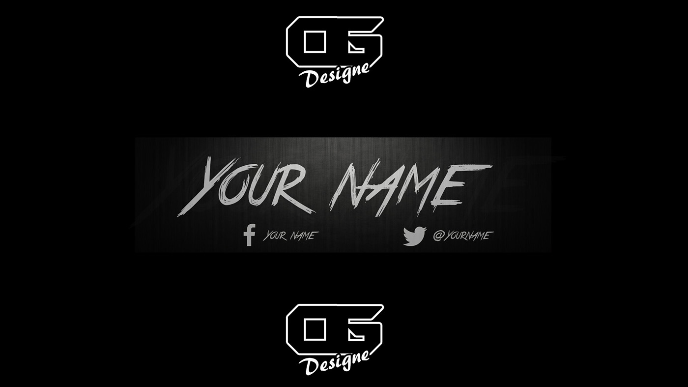 youtube hipster banner template