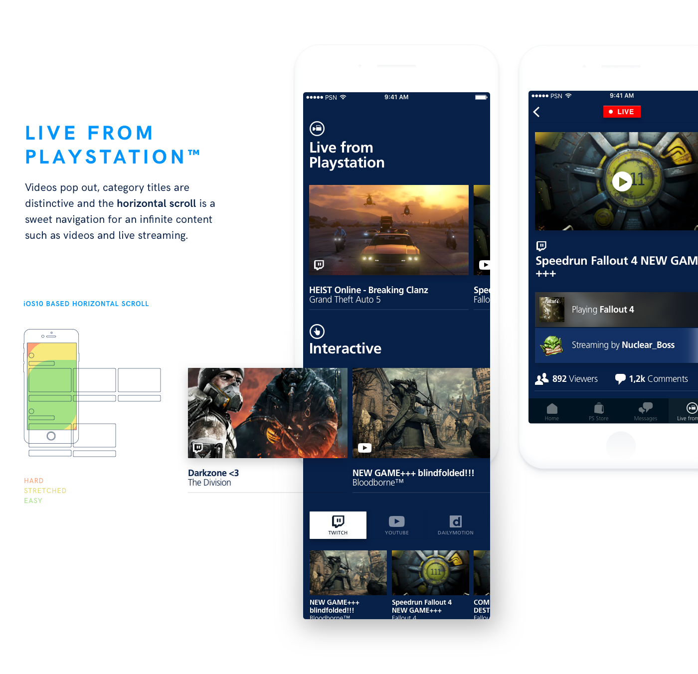 playstation redesign UI ux Progressive Disclosure iphone companion Sony Games collections