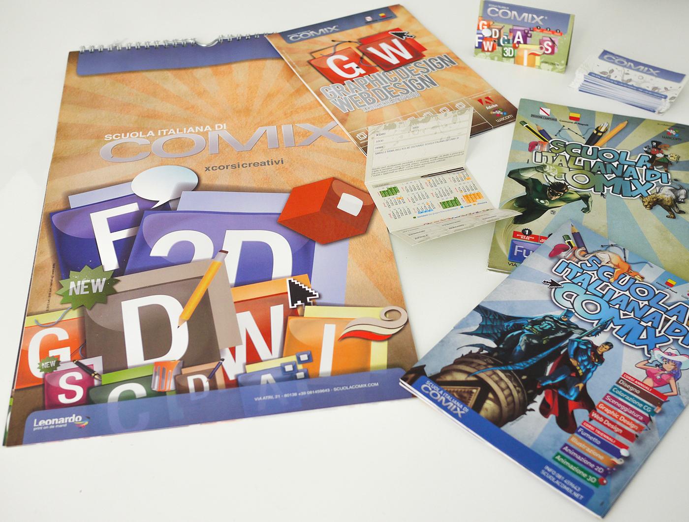 school  Graphic  comix scuola italiana di