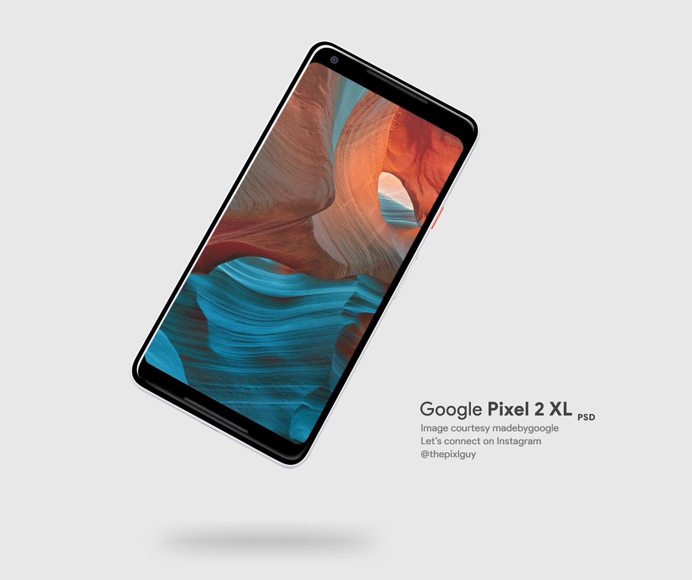 psd Mockup pixel 2 xl photoshop google