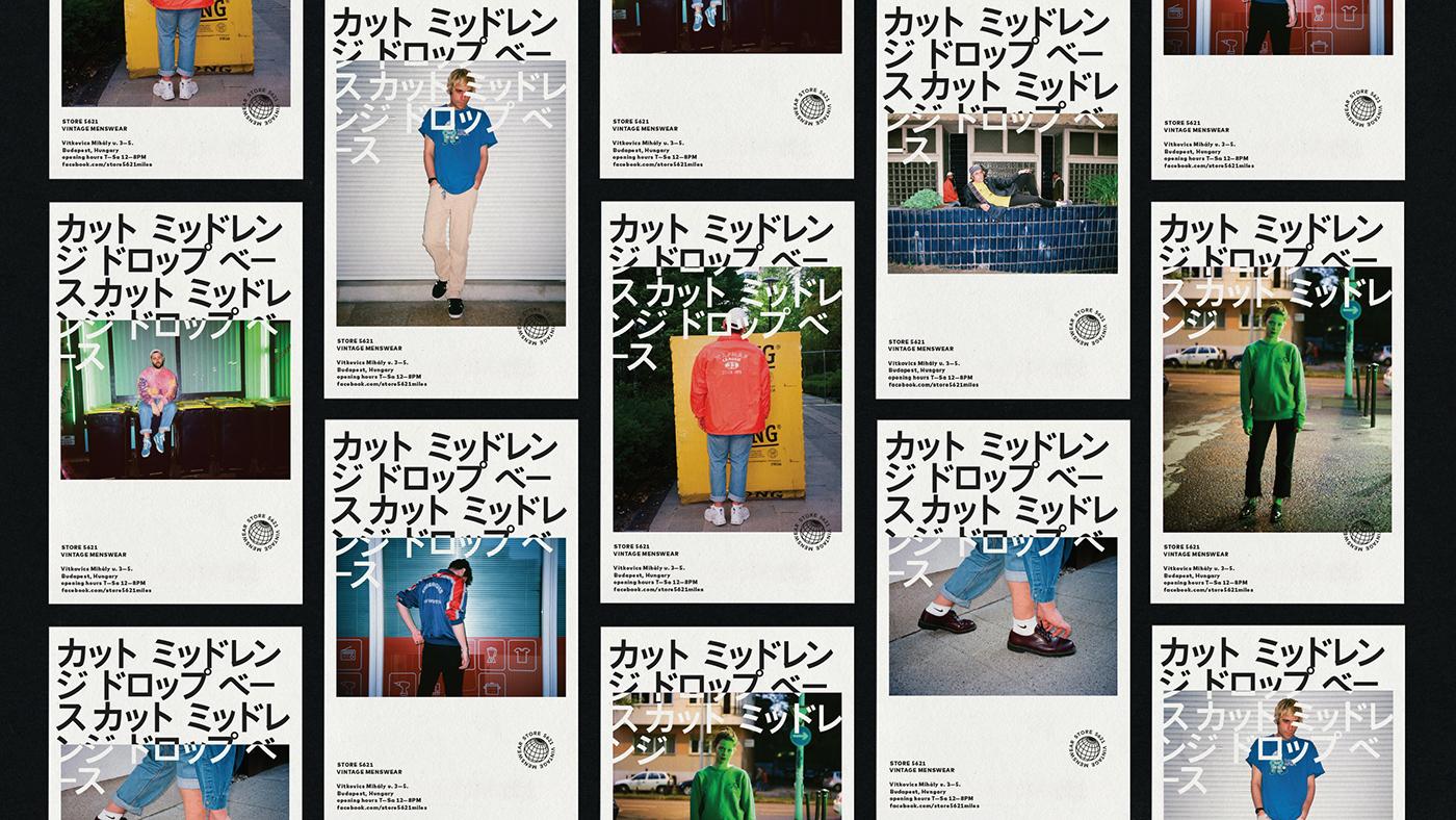 vintage Menswear store5621 japan tokyo koenji branding  identity Travel Travelling
