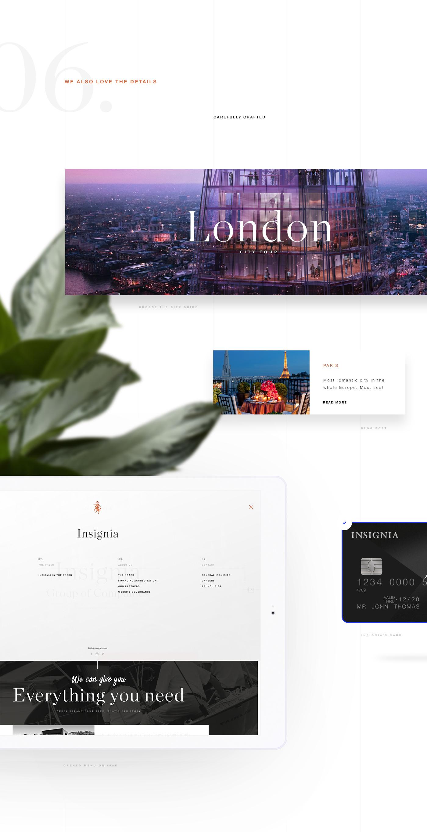 Webdesign userflow wittydigital app Bank finance creditcard concierge insignia London