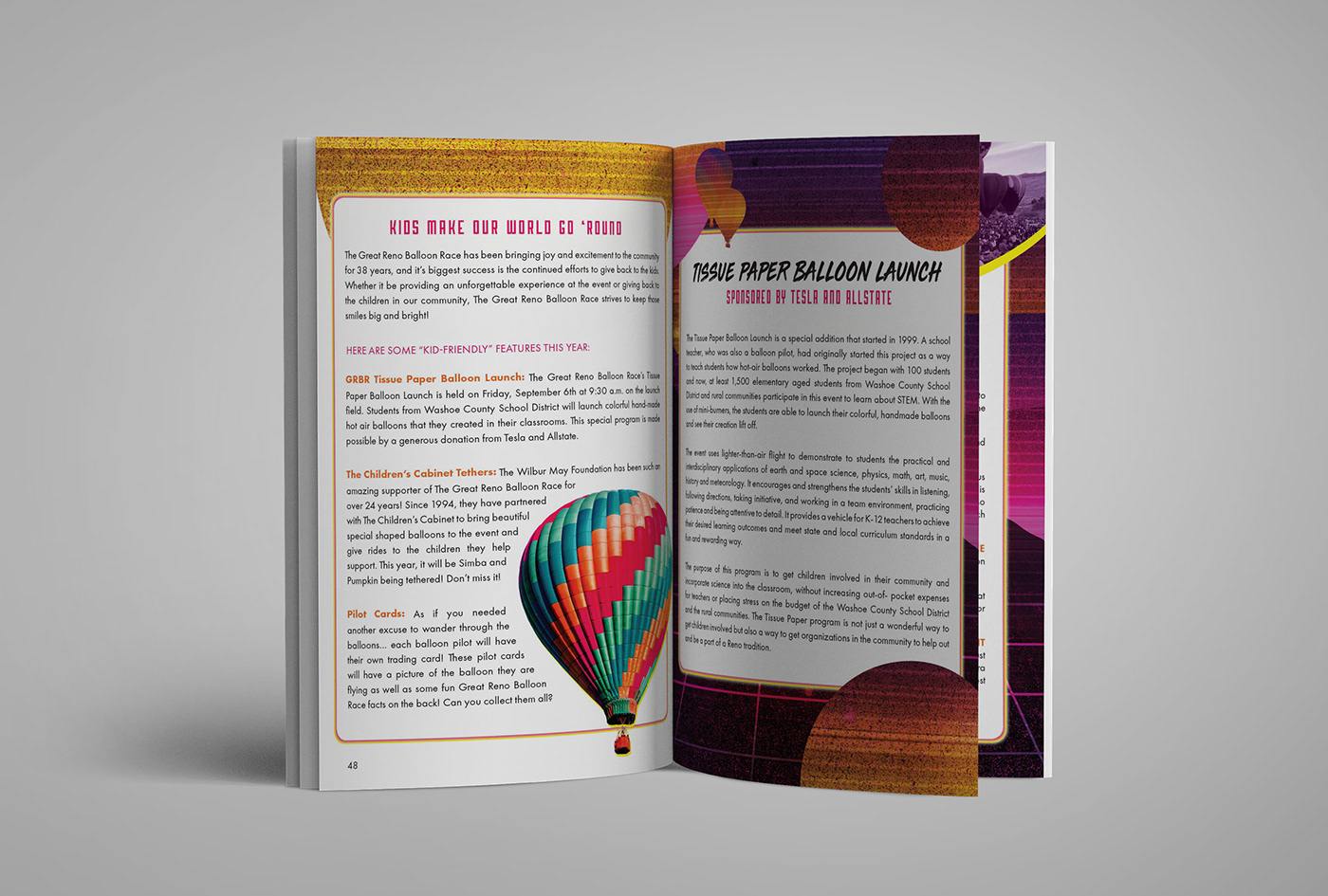 Image may contain: book, indoor and hot air balloon