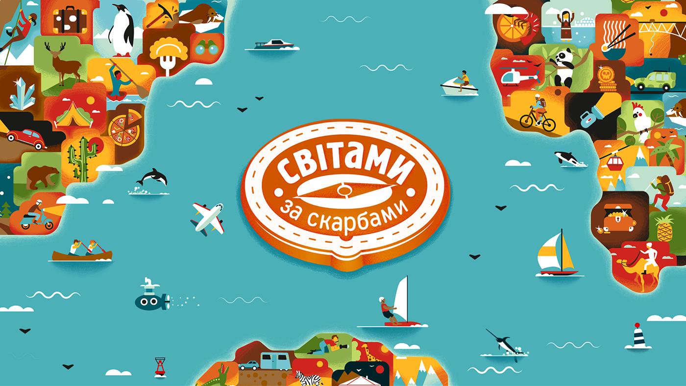 Travel Show STB Amaising race race Fun ILLUSTRATION  icons animation