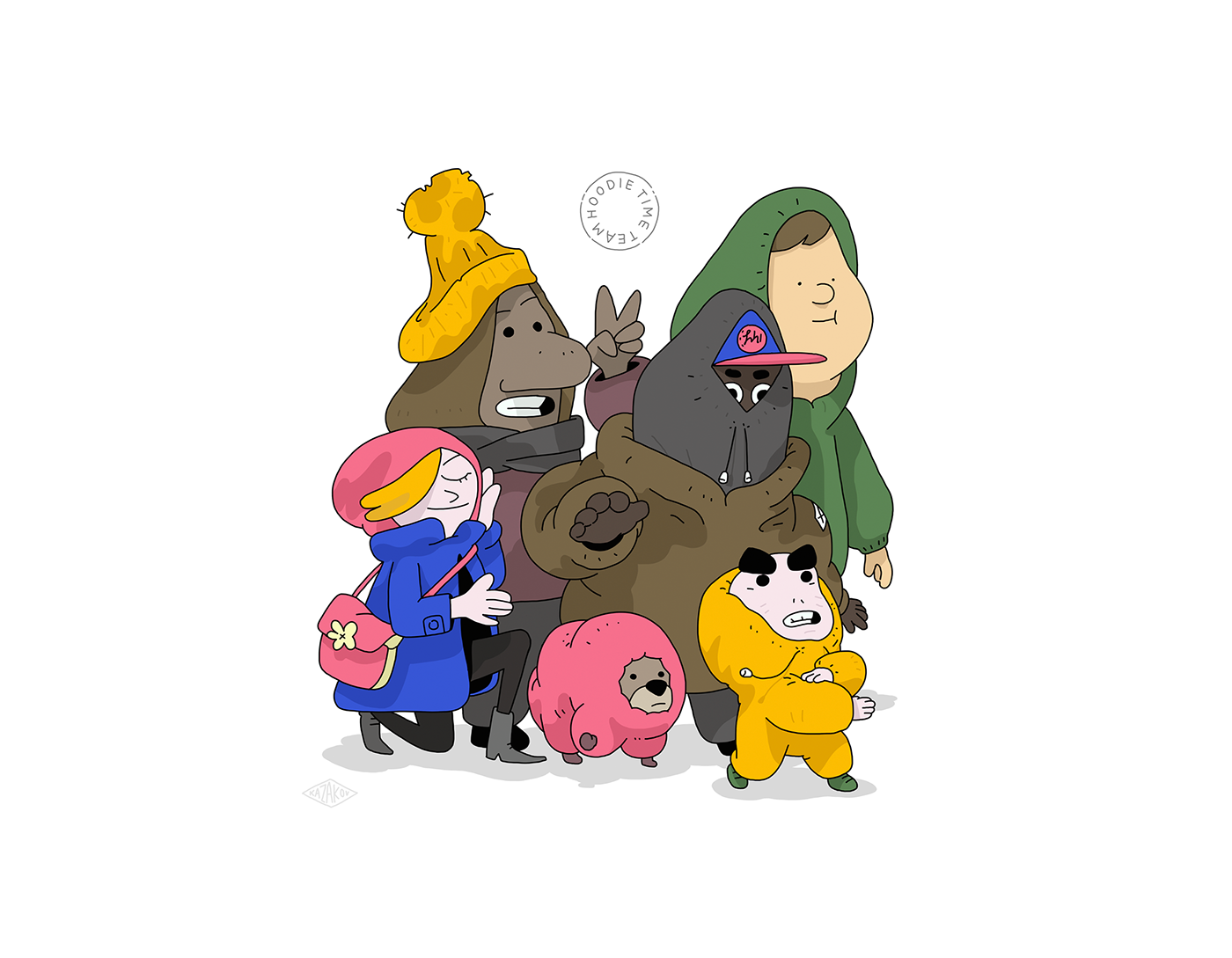 ILLUSTRATION  kazakov characters doodles