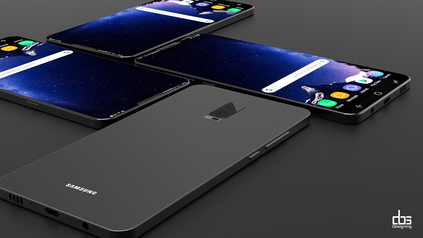 Concept Samsung Galaxy S9 không cong mà thẳng vuông vắn nhưng vẫn sang trọng, độc đáo hút hồn