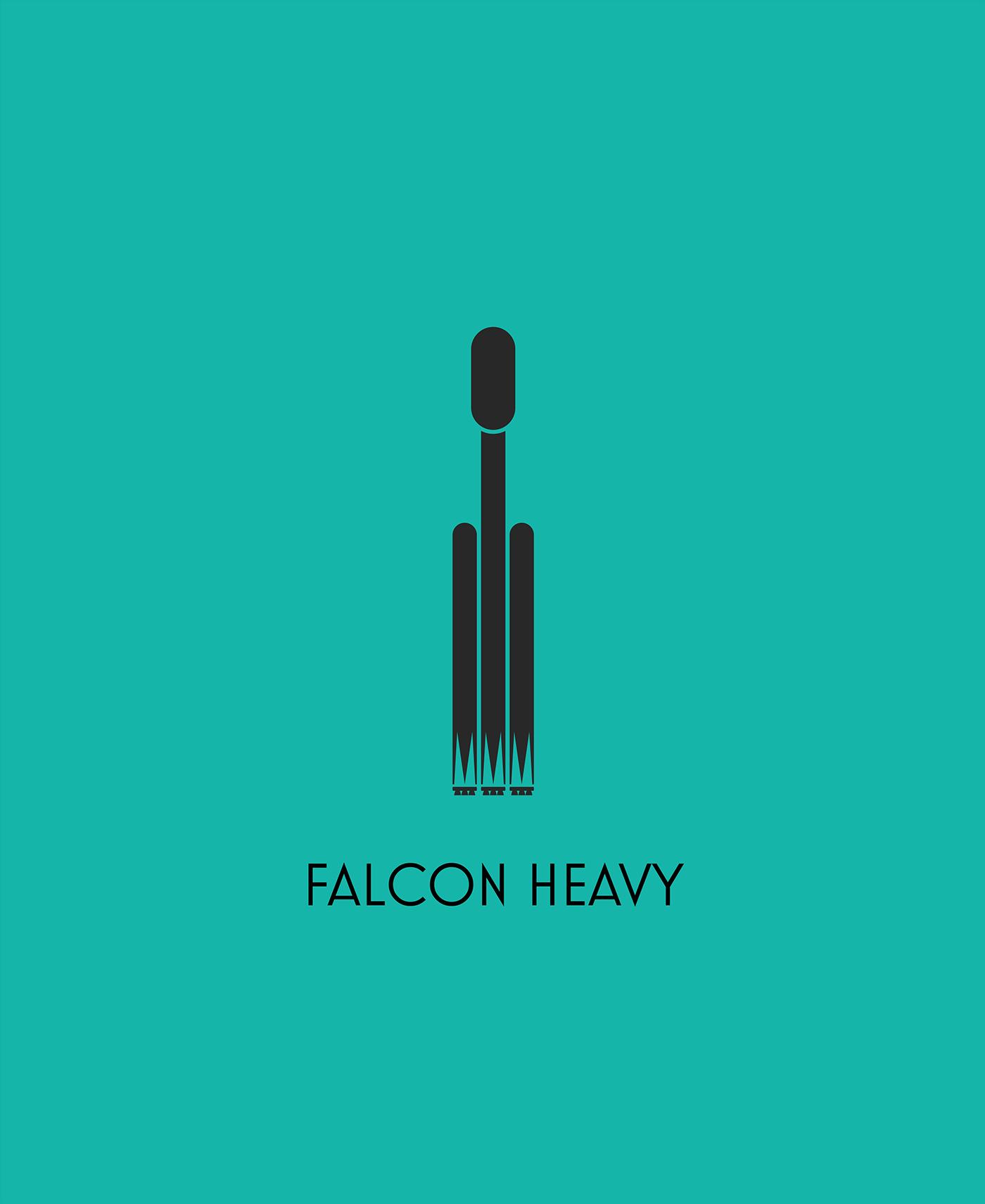 ILLUSTRATION  Silhouette Toronto graphic simple predator shuttle falcon Soyuz