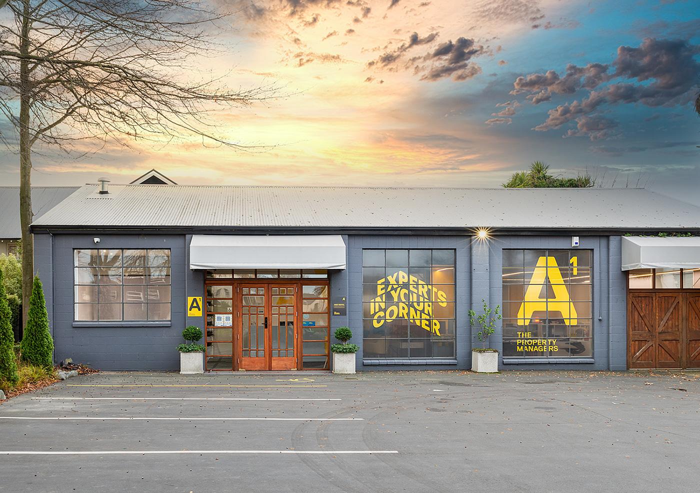bold colour brand environmental graphics graphic design  identity interior design  replica slate grey