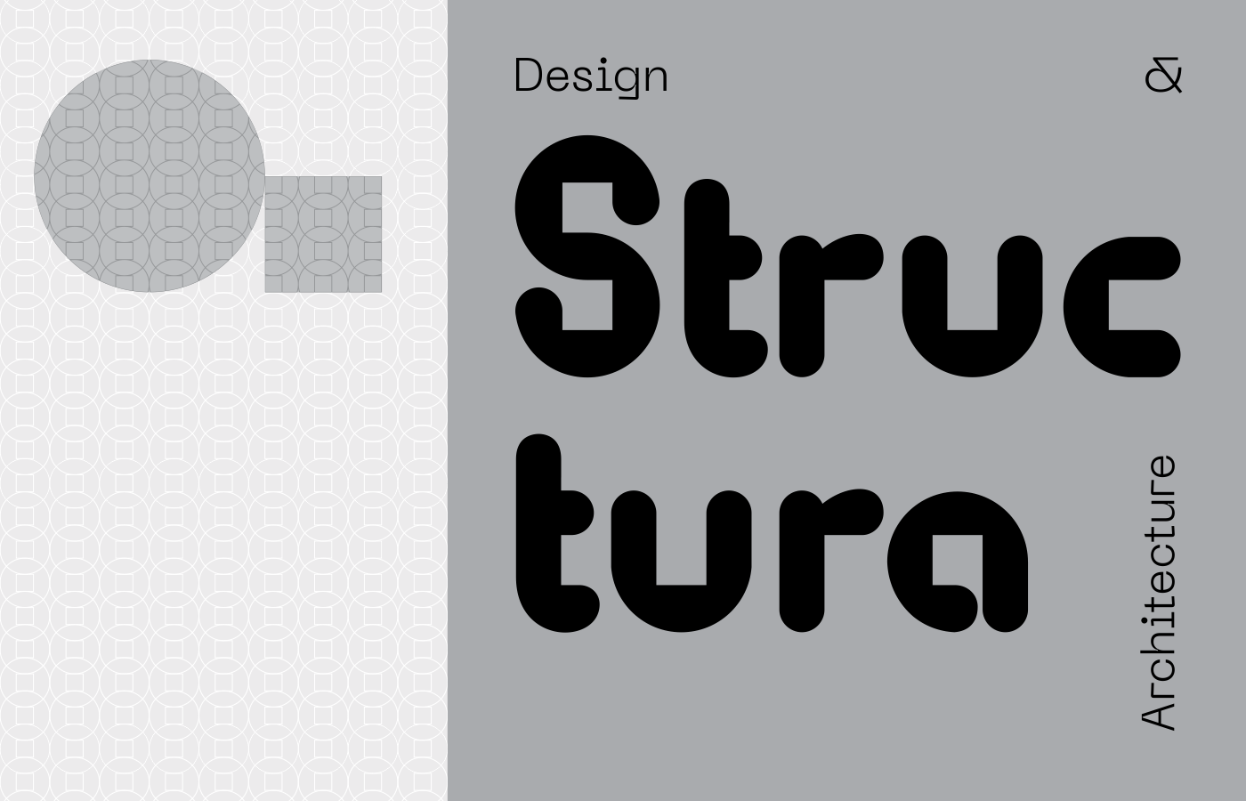 Structura Logotype on two rows & pattern