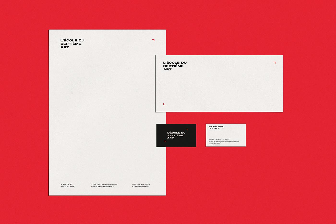 school branding  logo Signage print red brand identity type system