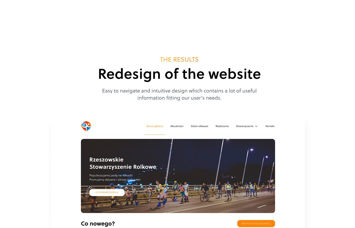 Association fitness healthy lifestyle news skate Skating sport ux/ui Web Design