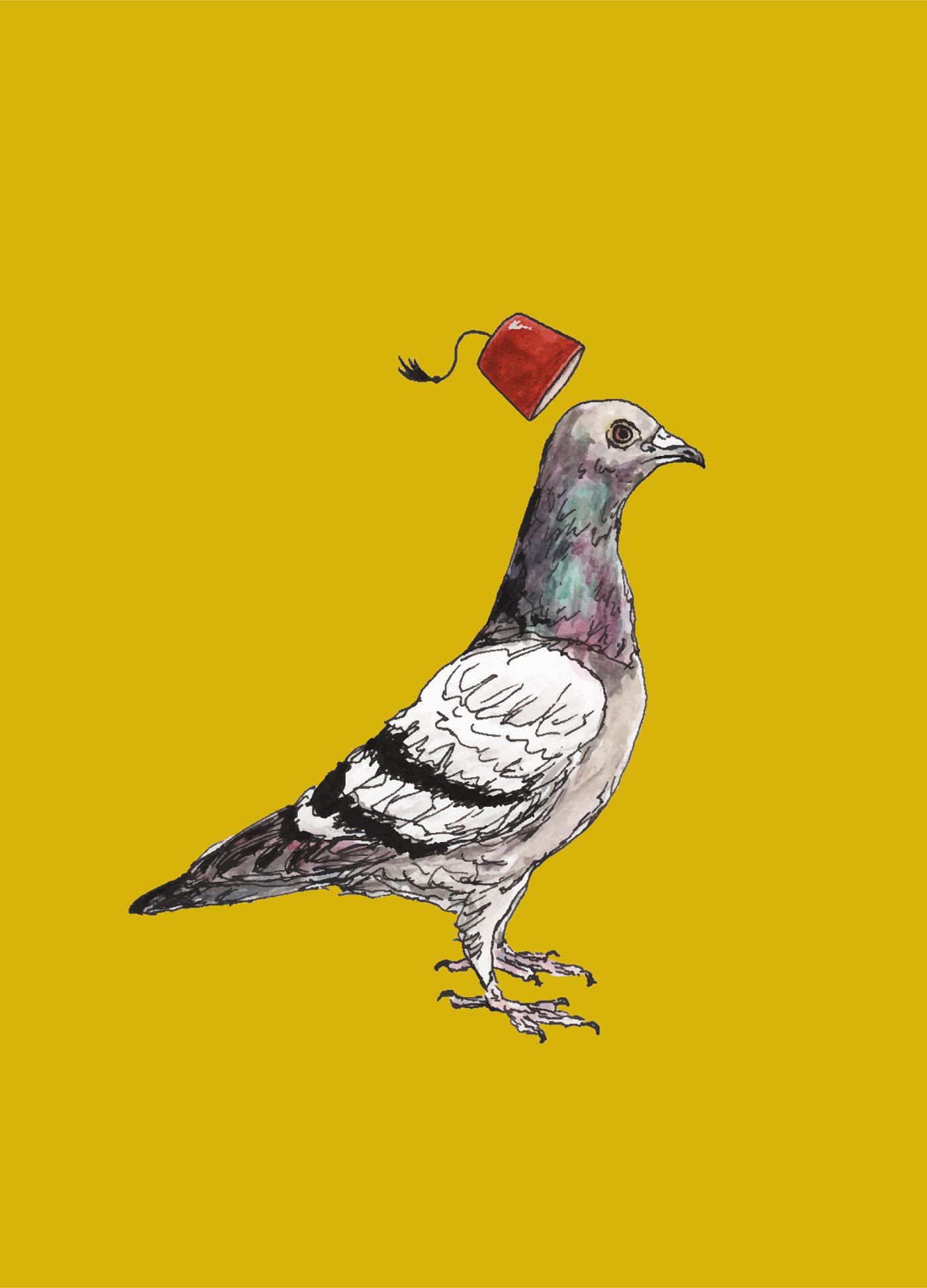 Image may contain: bird, animal and drawing
