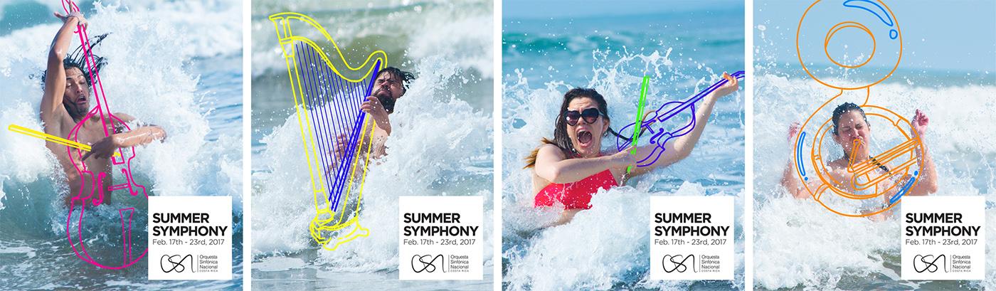 summer orchestra beach music splash waves shymphonic concert sea