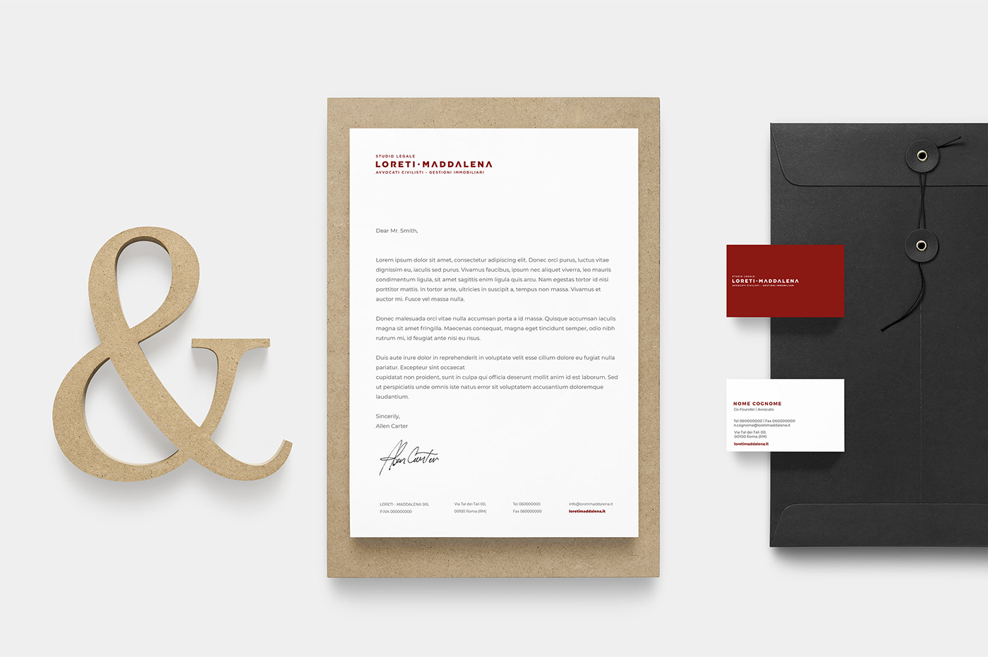 Brand Design brand identity law law firm lawyer Logo Design Logotipo red thanatos digital agency wordmark