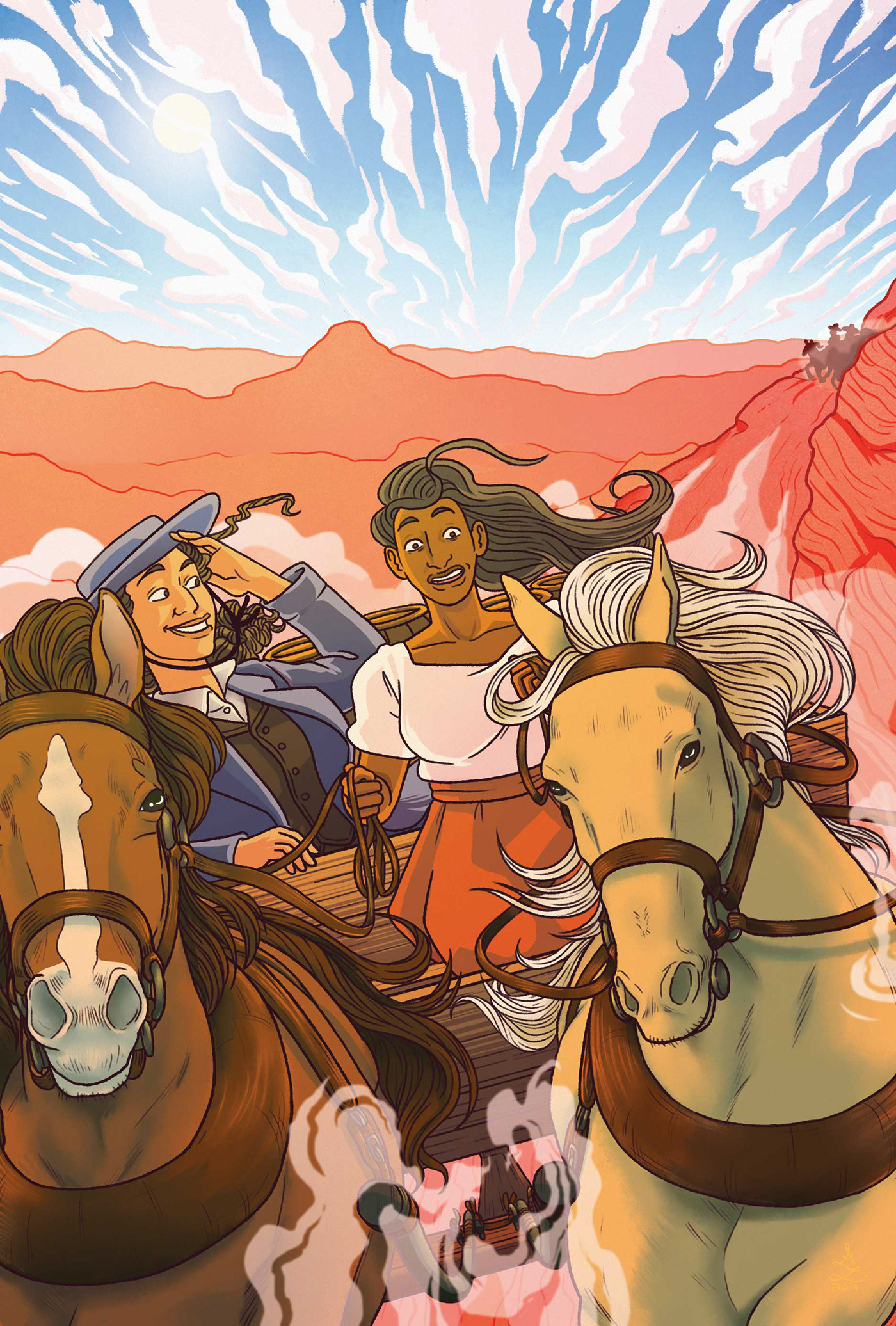 Image may contain: cartoon and horse