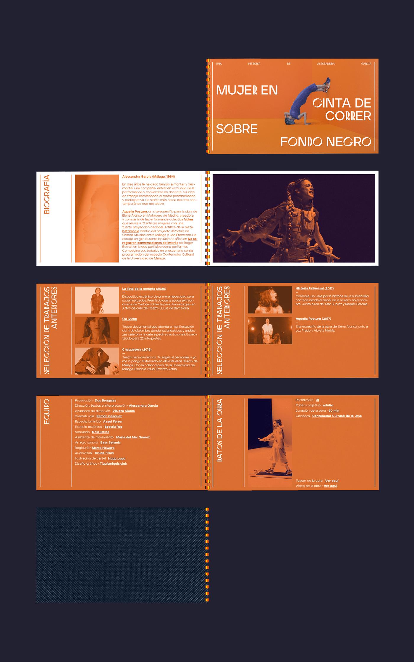cartel culture editorial identity Layout orange poster teatro theater  type