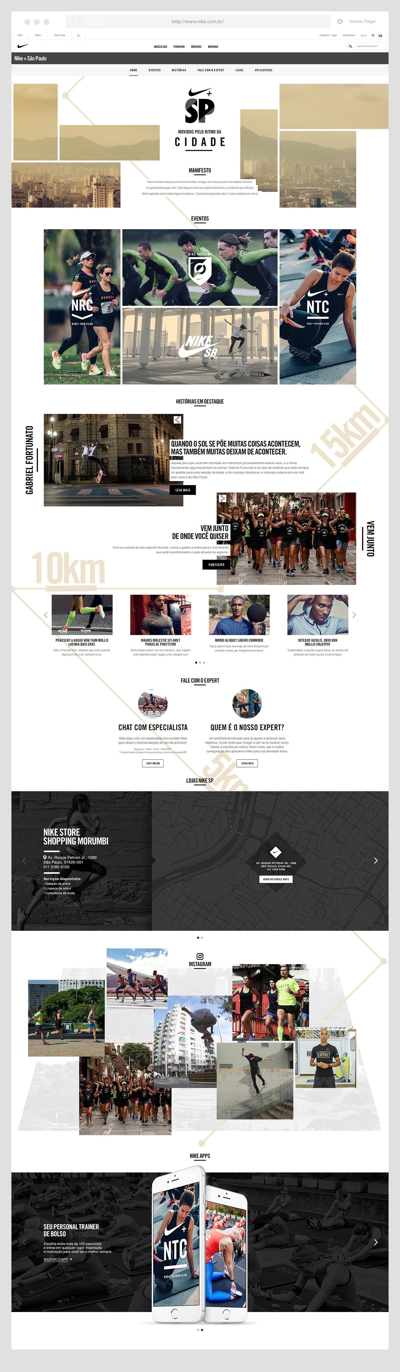 Nike Nike City são paulo vancouver british columbia nike.com Web mobile clean Nike.com.br