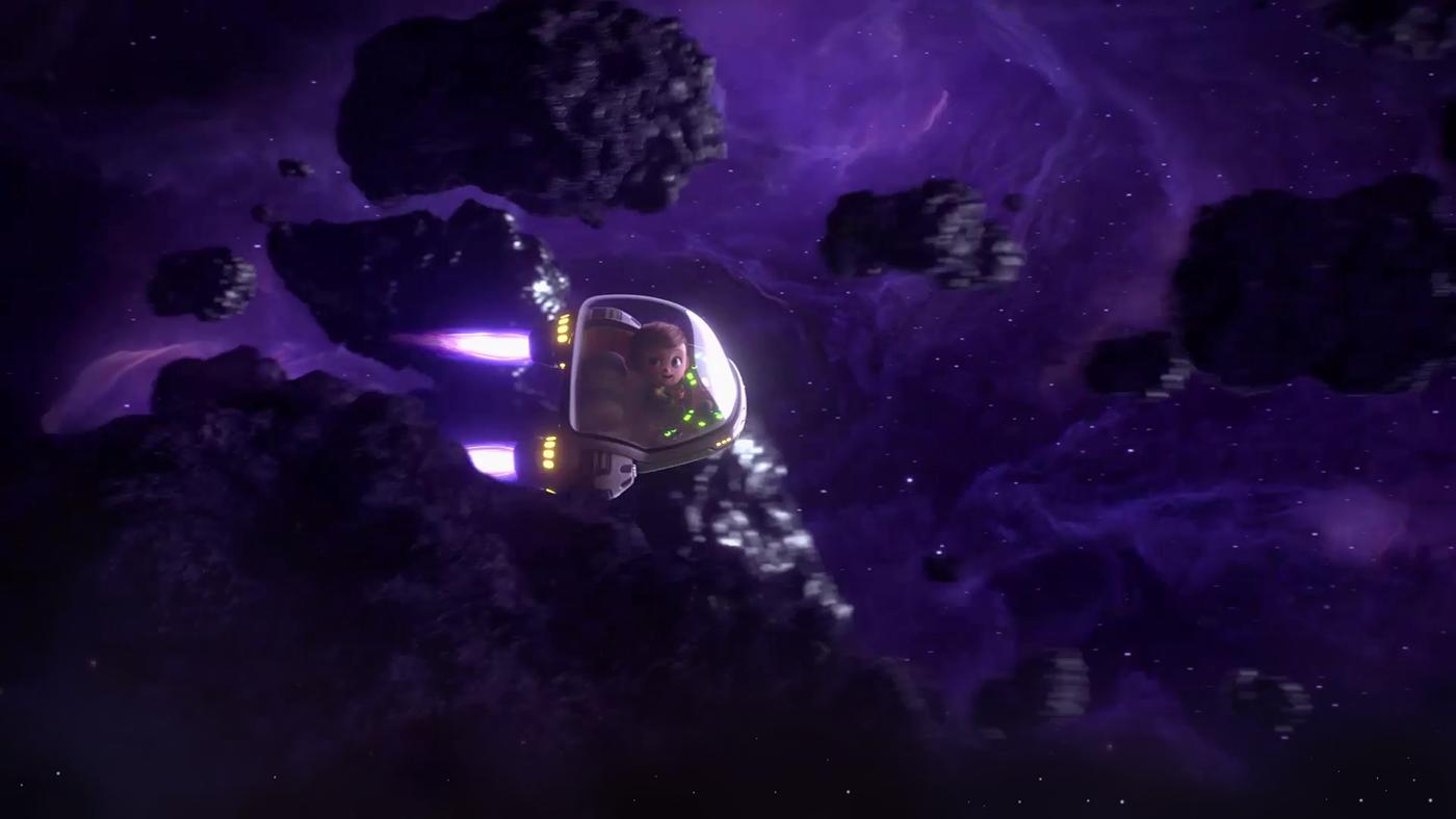 aeronave animação animation  dia das mães Mother's Day Space  spaceship Unimed