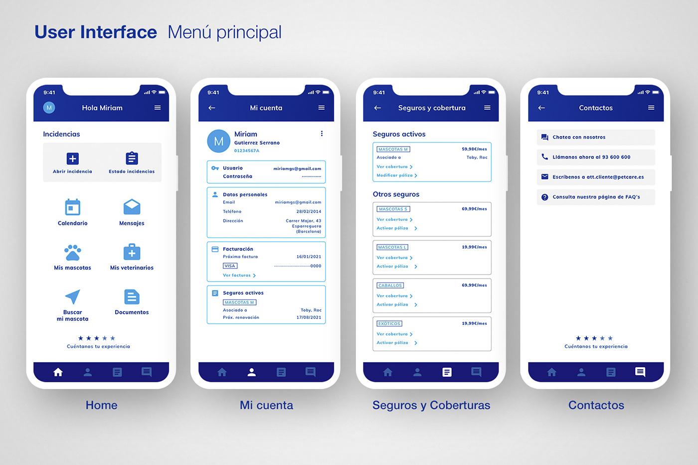 app UI/UX wireframing
