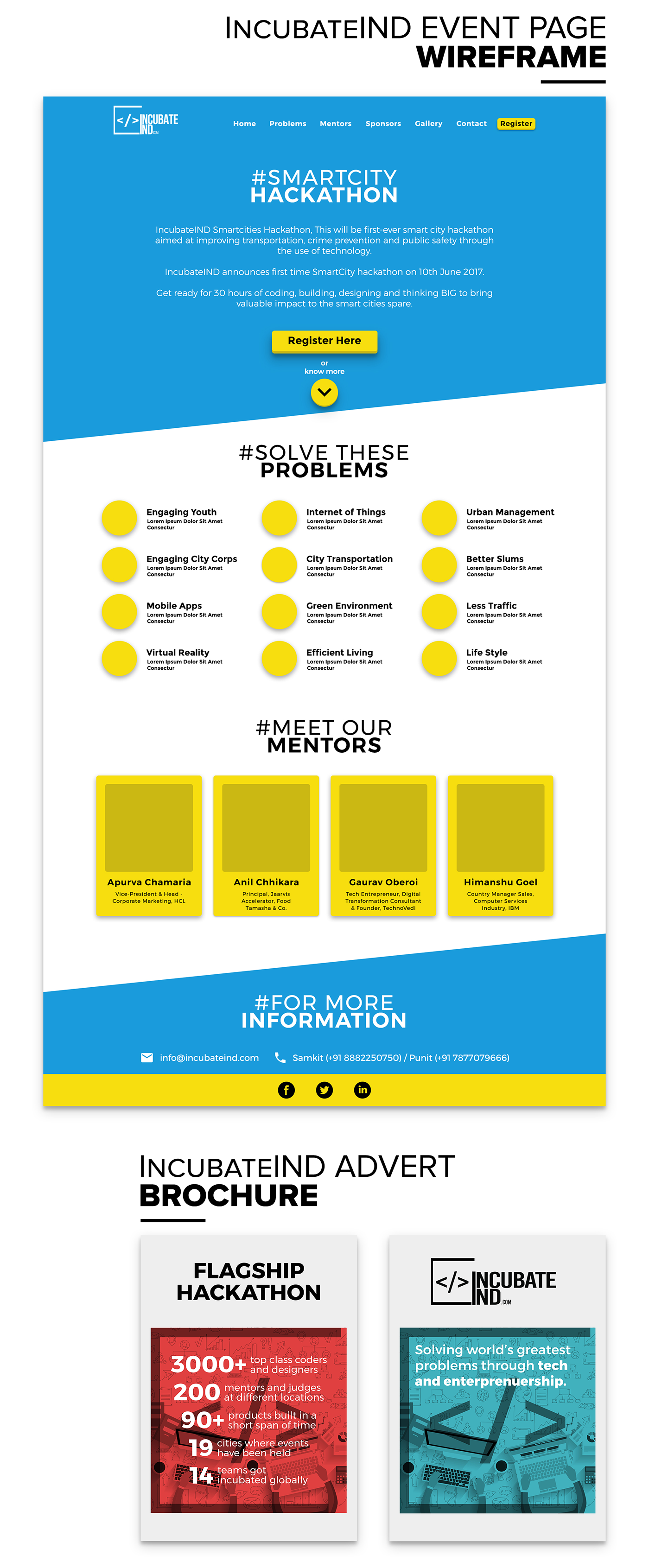 poster UI/UX Web wireframe ncs JSS IncubateIND