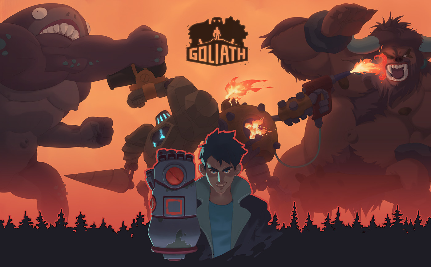 Goliath – game promo art and teaser on Behance