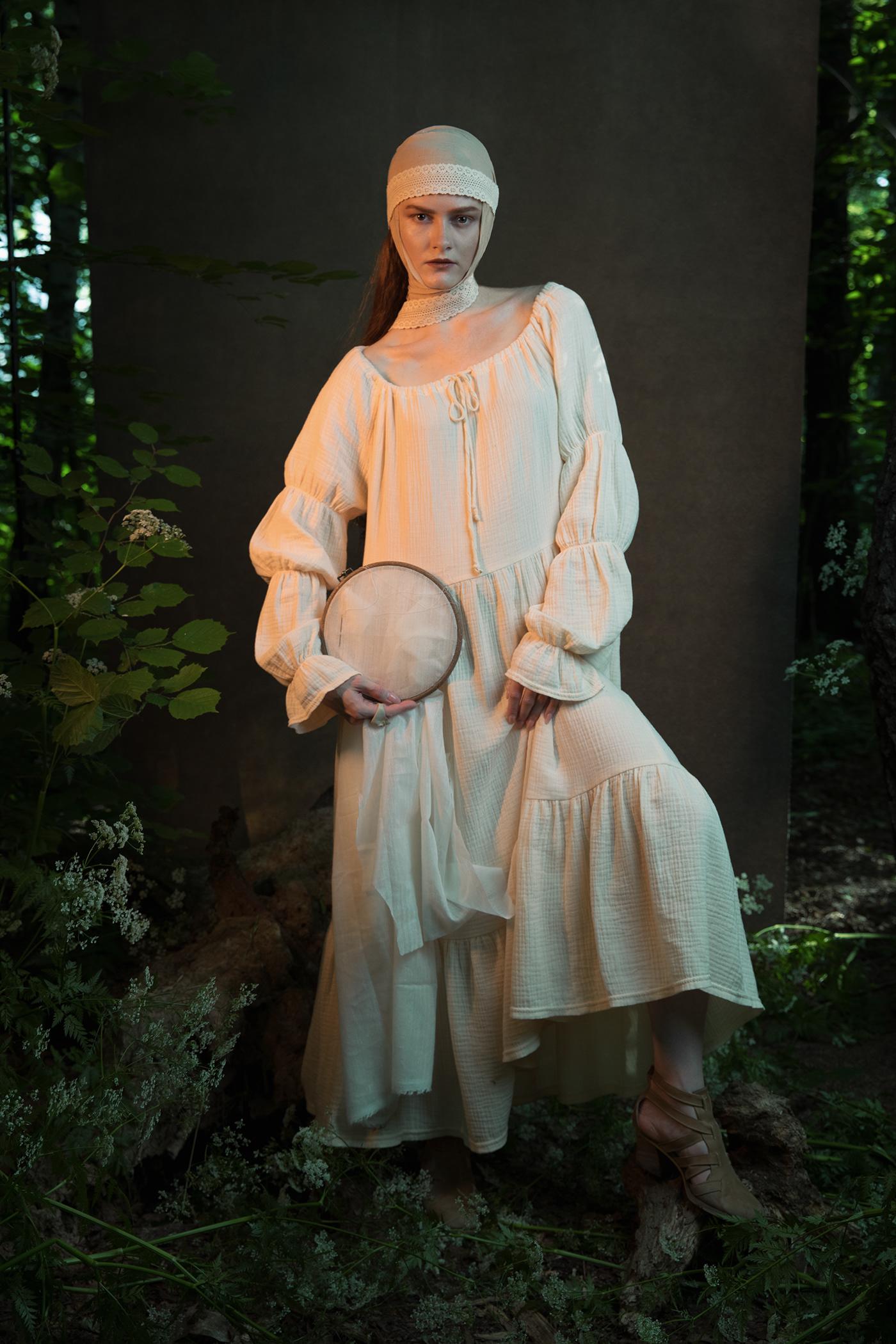 fairy fairy tale Folklore long hair Nature painting   peach portrait rose