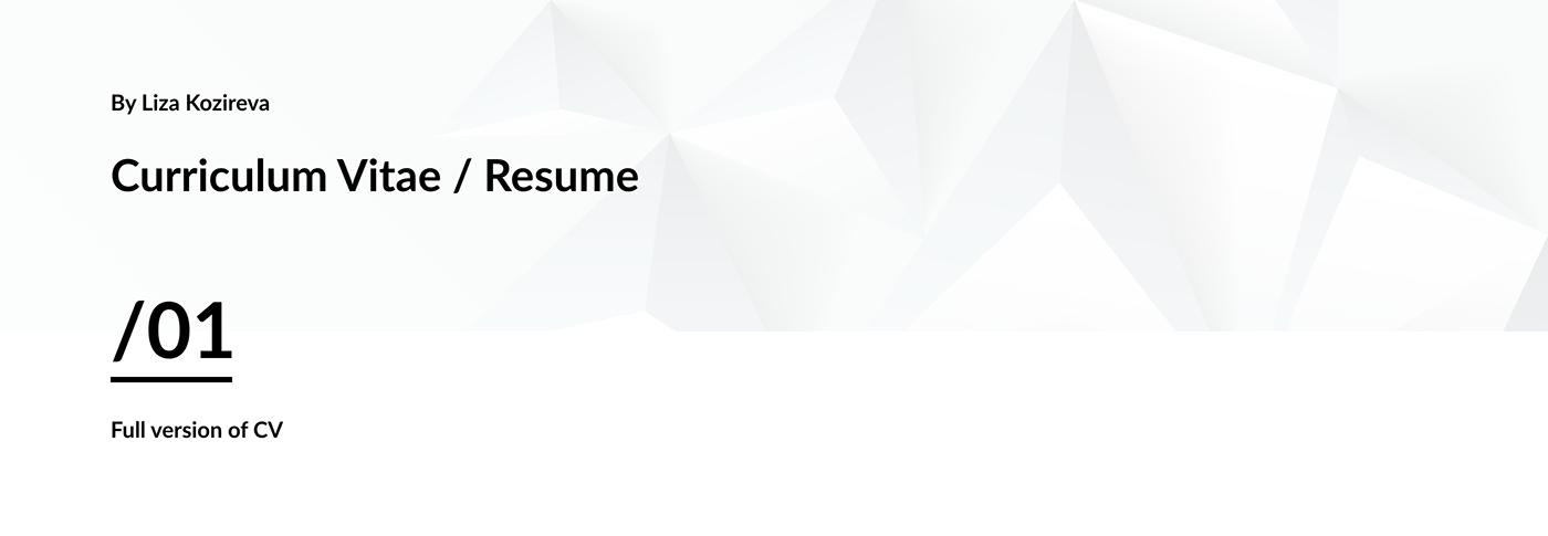 Adobe XD Curriculum Vitae CV Resume