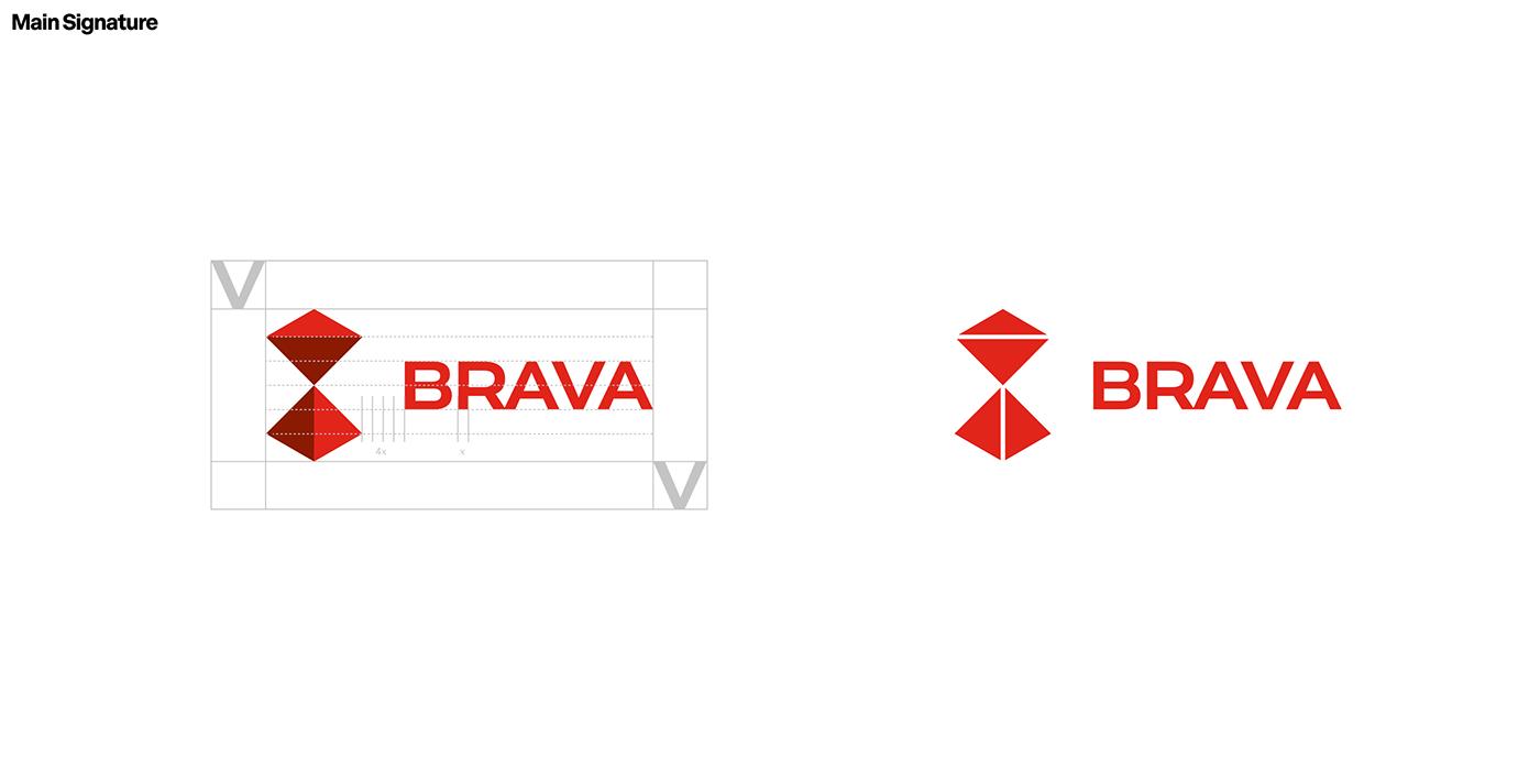 Brava, BRBAUEN, logo design grid