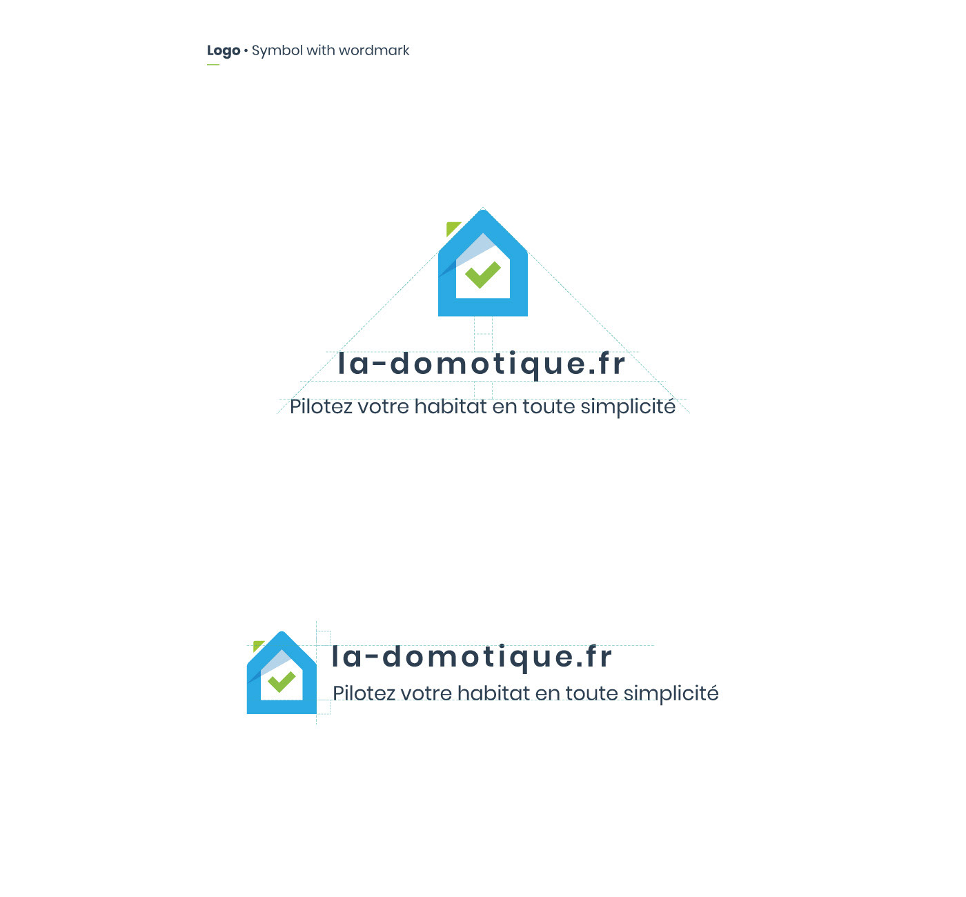 Smarthome logo with text and symbol