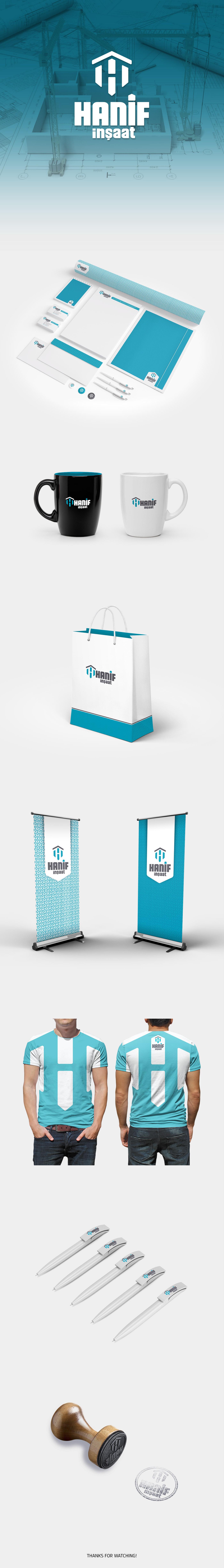 logo corporate brand building kurumsal marka inşaat poster rollup Mug  brochure Afiş broşür