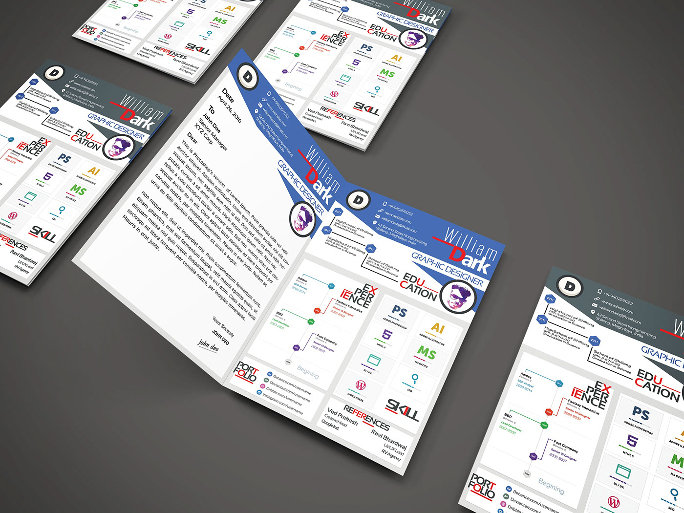 free resume template  with cover letter  on behance