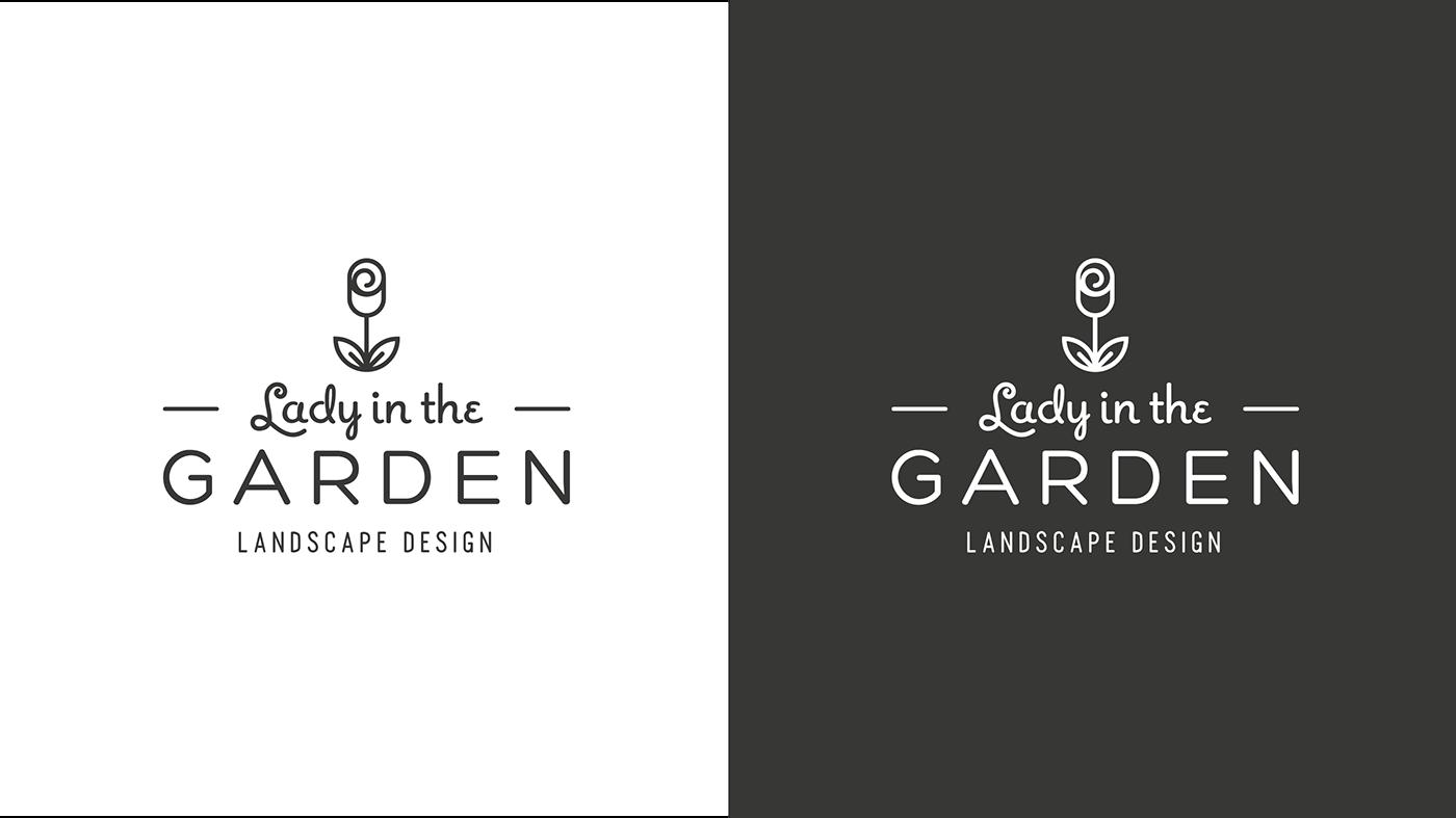 Lady garden gardening Landscape design flower plants Plant petal Website identity Drafting