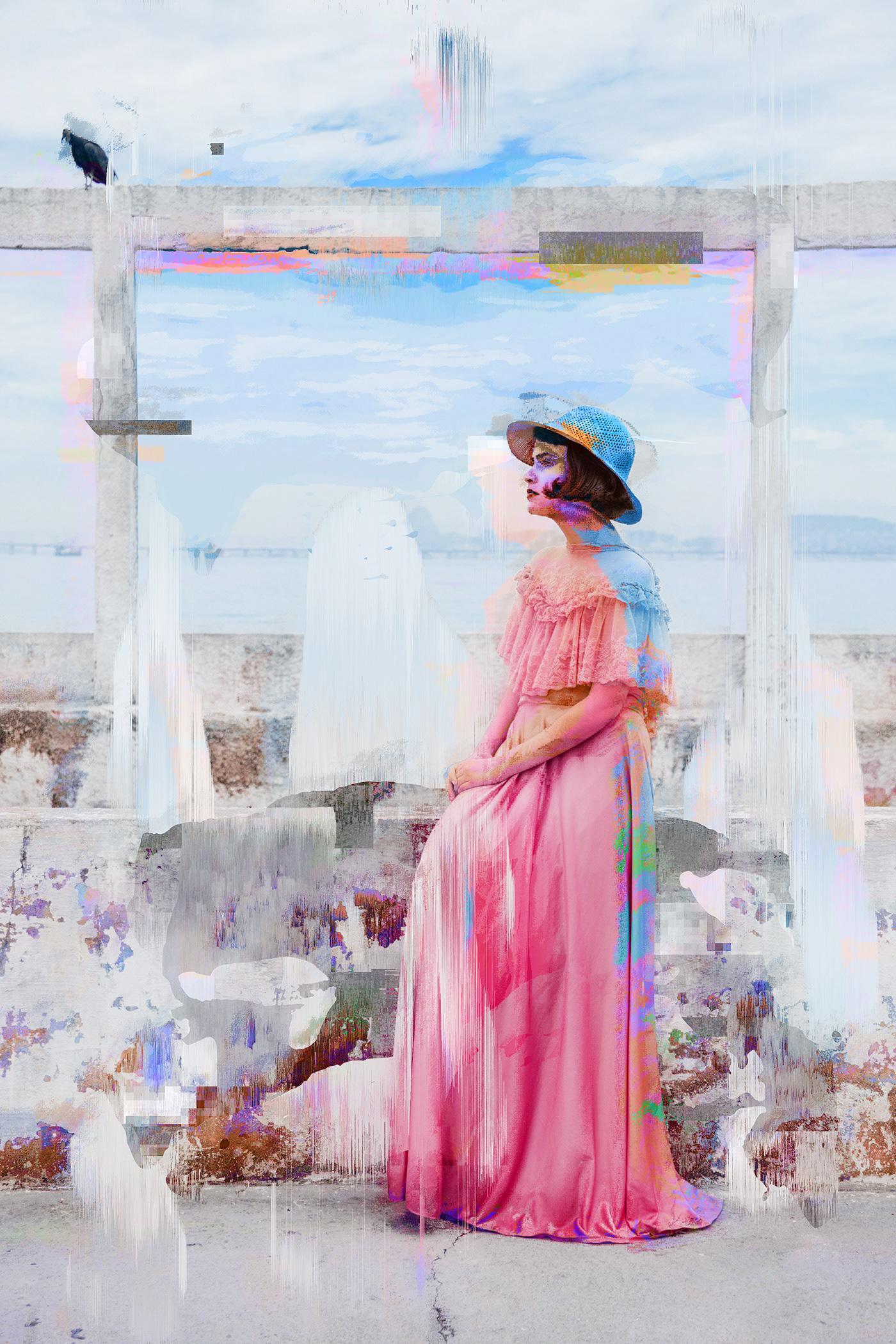 Glitch pixel sort unsplash abstract conceptual