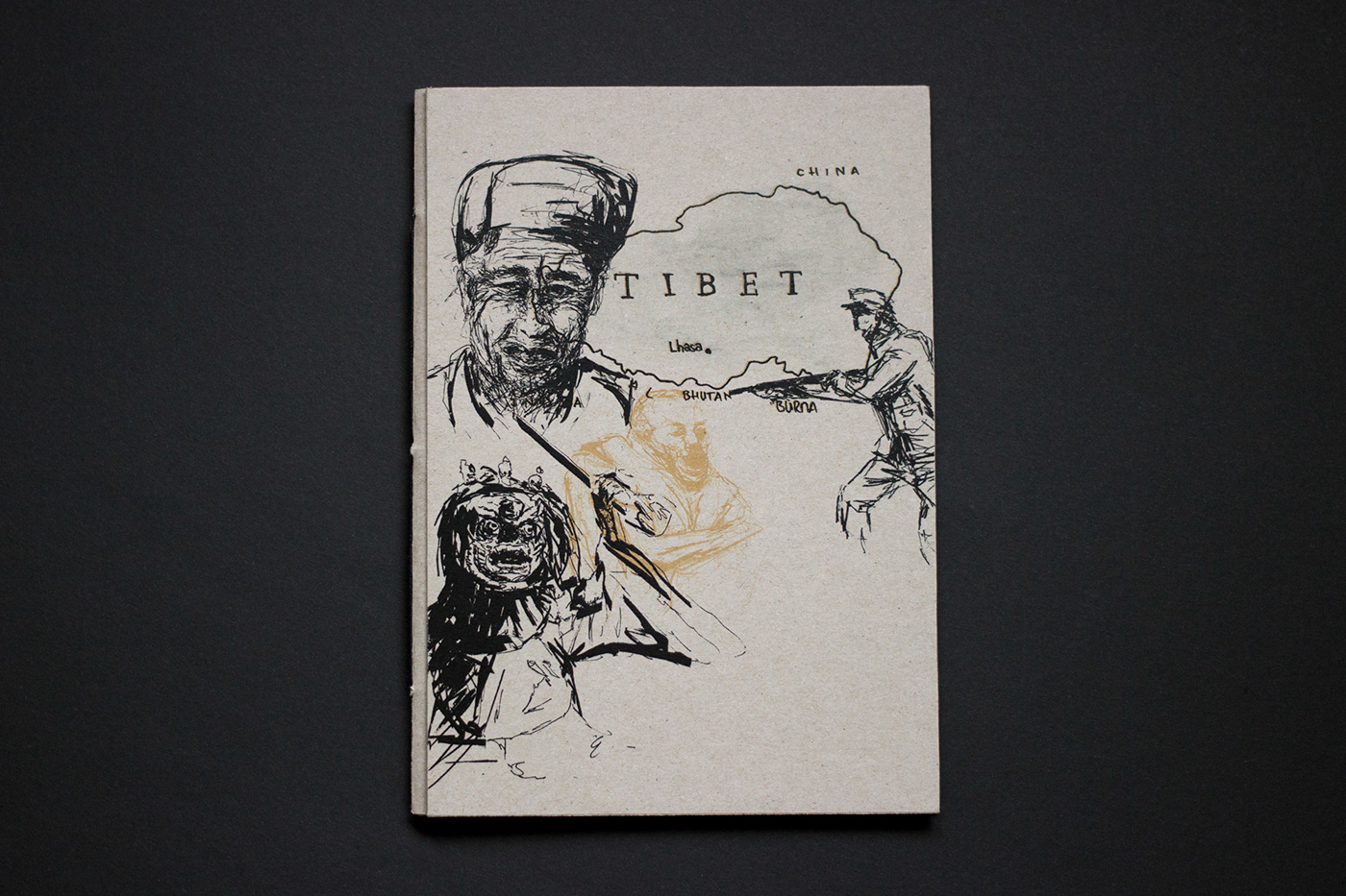 tibet hymne hymn acryl book paper Buddhismus buddhism DALAILAMA freedom tradition Buddha religion War china