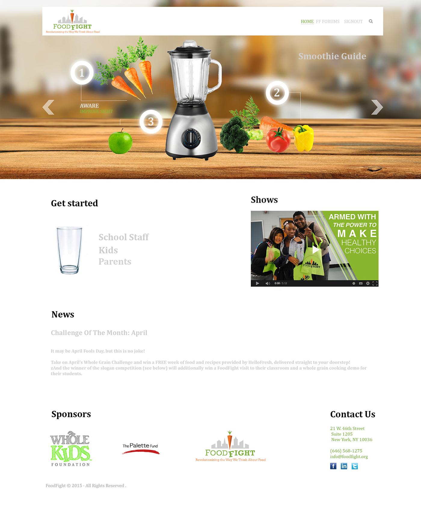 Food fight Web design