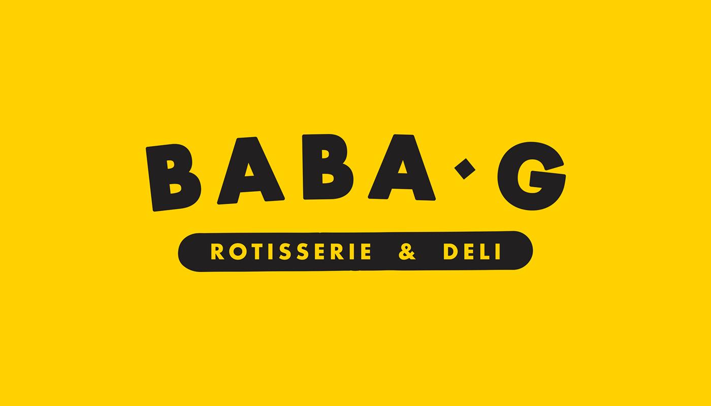 restaurant deli takeaway mediterranean chicken Mural rotisserie halftone salad