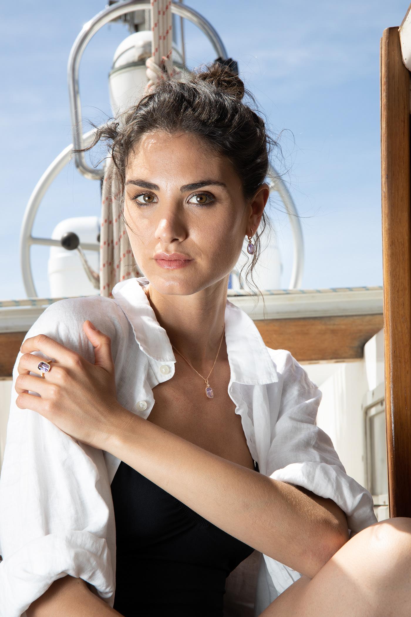 model jewelry jewel Jewellery beauty Fashion  campaign sicily italian luxury