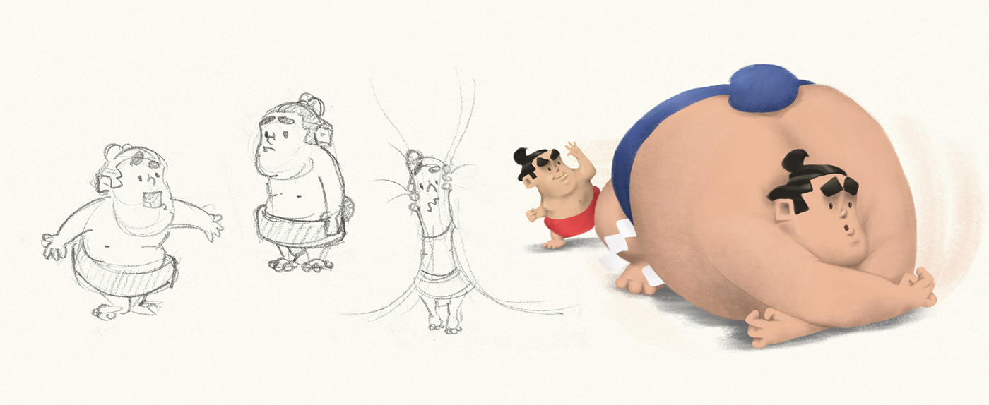 ILLUSTRATION  sumo sumo character book iBook kids book book illustration story