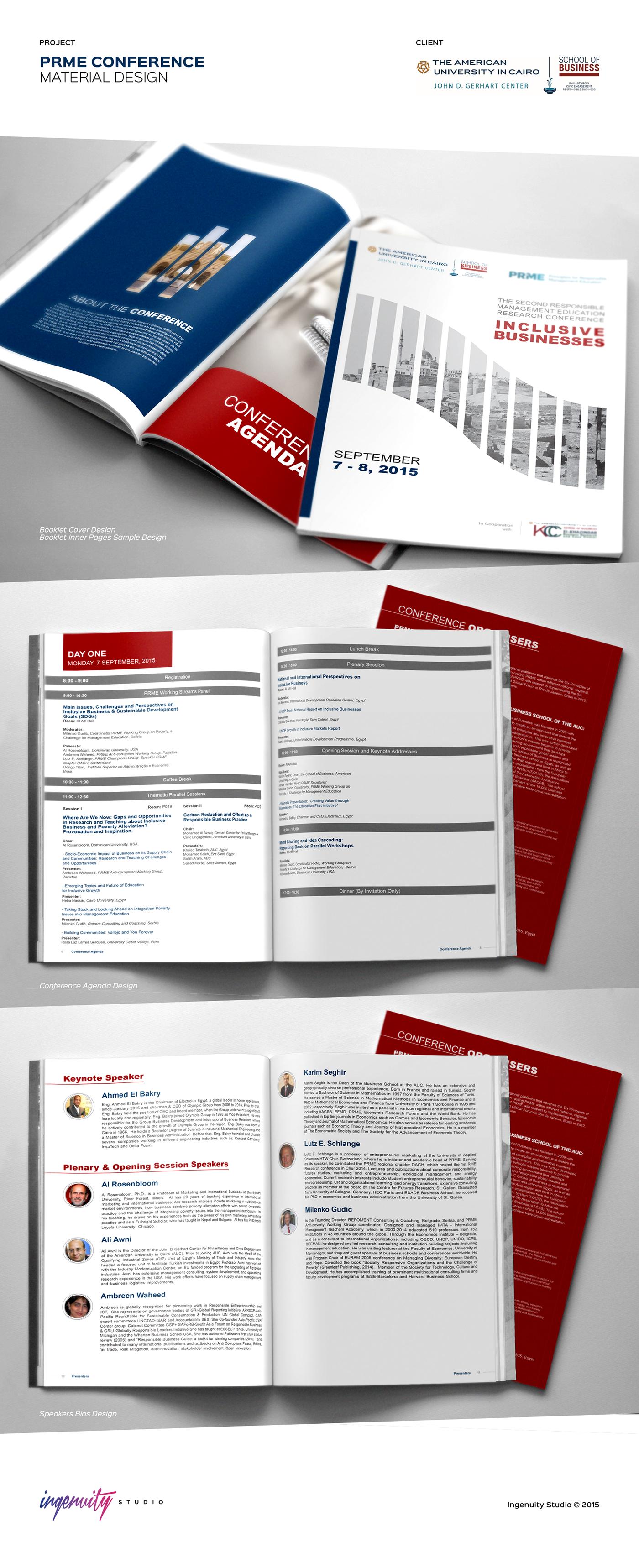 prme conference booklet design on behance
