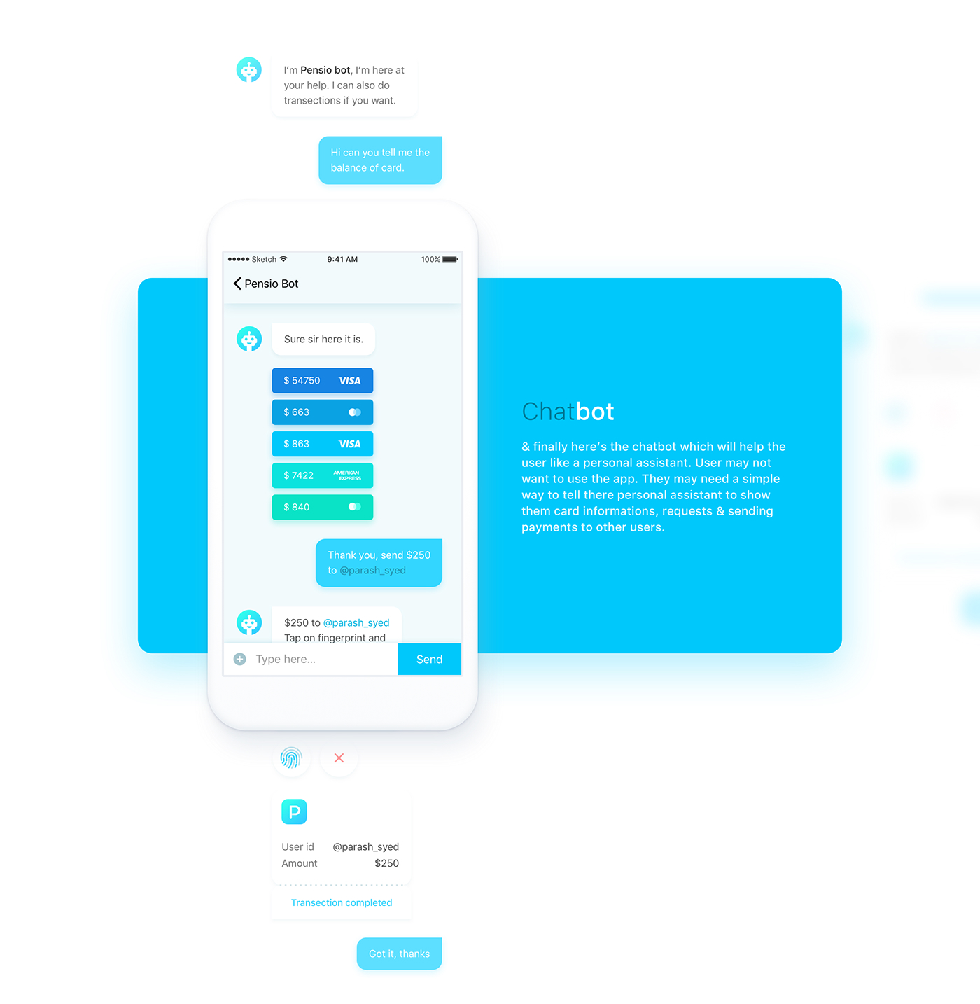 credit card payment transaction Chat bot add card motion animation  logo Icon
