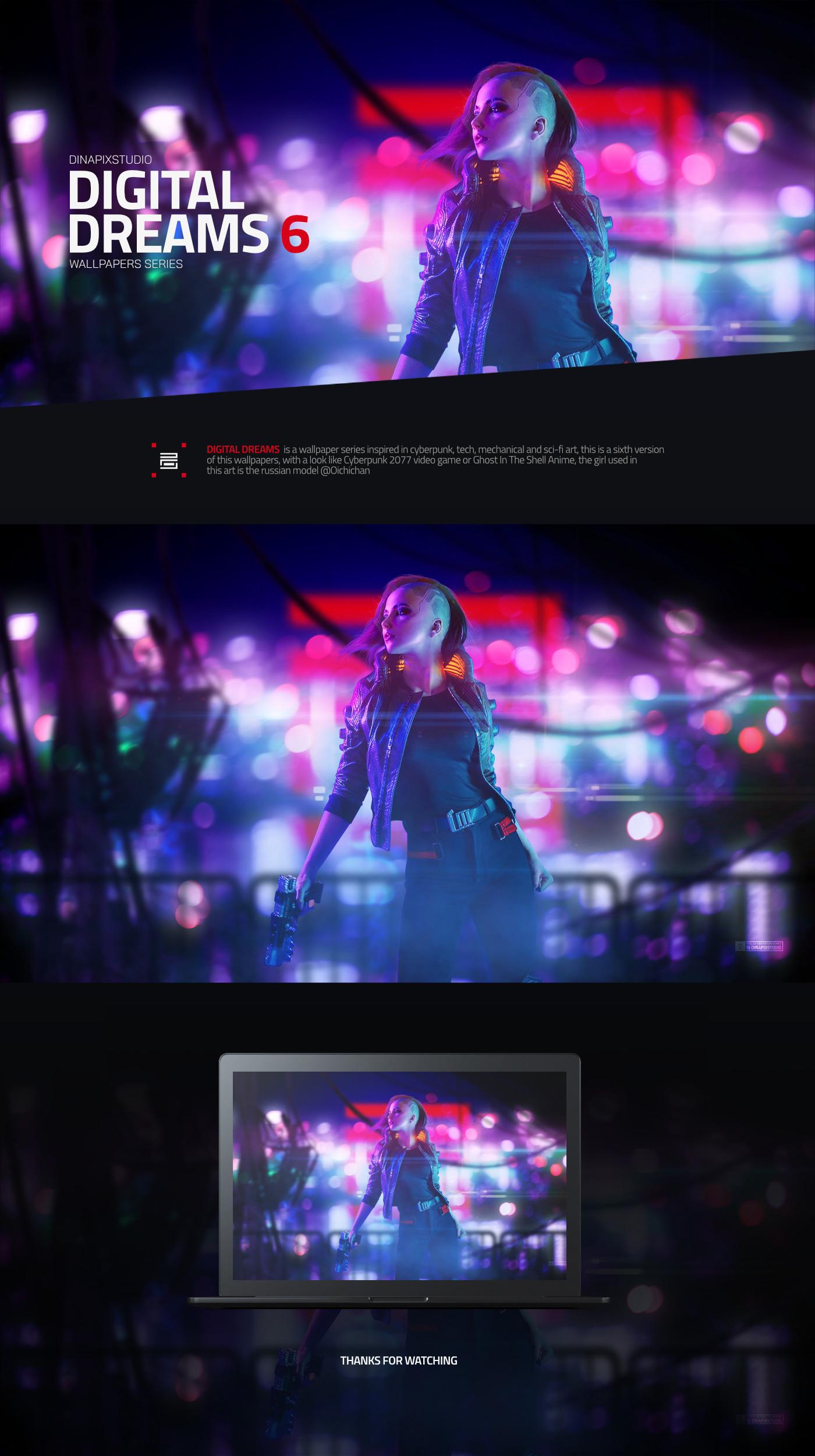 Cyberpunk Cyberpunk art digital Digital Art  future futuristic model Scifi sexy girl wallpaper