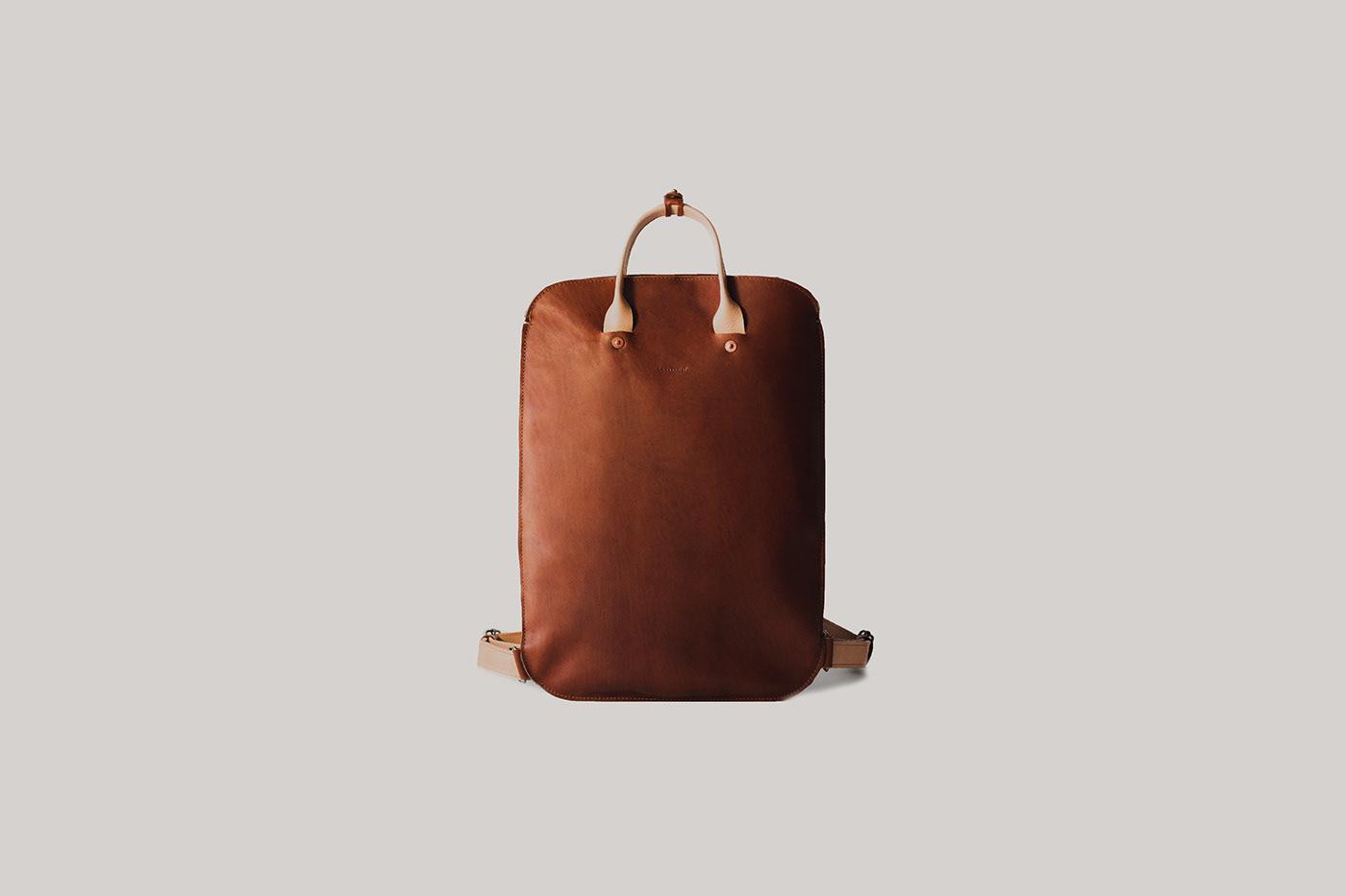 adolfo navarro backpack bag case leather mexico minimal product design